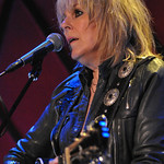 Wed, 01/10/2014 - 5:28pm - Lucinda Williams at Rockwood Music Hall in NYC, 10/1/14. Hosted by Rita Houston. Photo by Neil Swanson.
