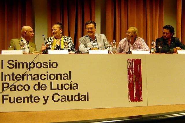 """de izda a dcha: florencio ruiz lara """"el gaditano"""", matilde coral, manuel curao, juan peña """"el lebrijano"""" y rafael de utrera. 23/9/2014"""