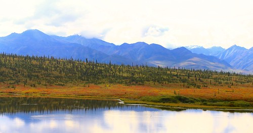 travel lake reflection water alaska landscape fallcolor outdoor