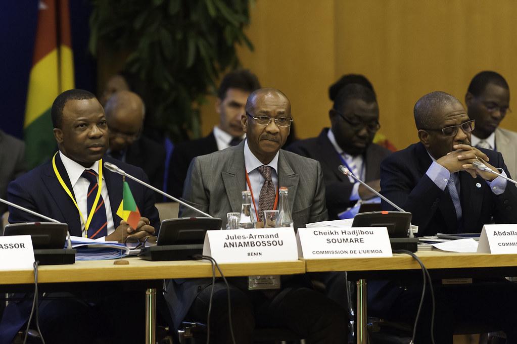 Réunion des ministres de la Zone franc - Paris, 3 octobre 2014