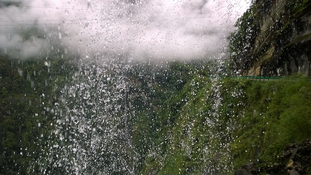 Through the waterfall, Nyalam to Zhangmu