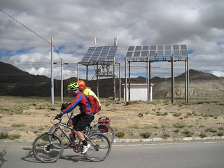 Solar cell phone sites, a common sight