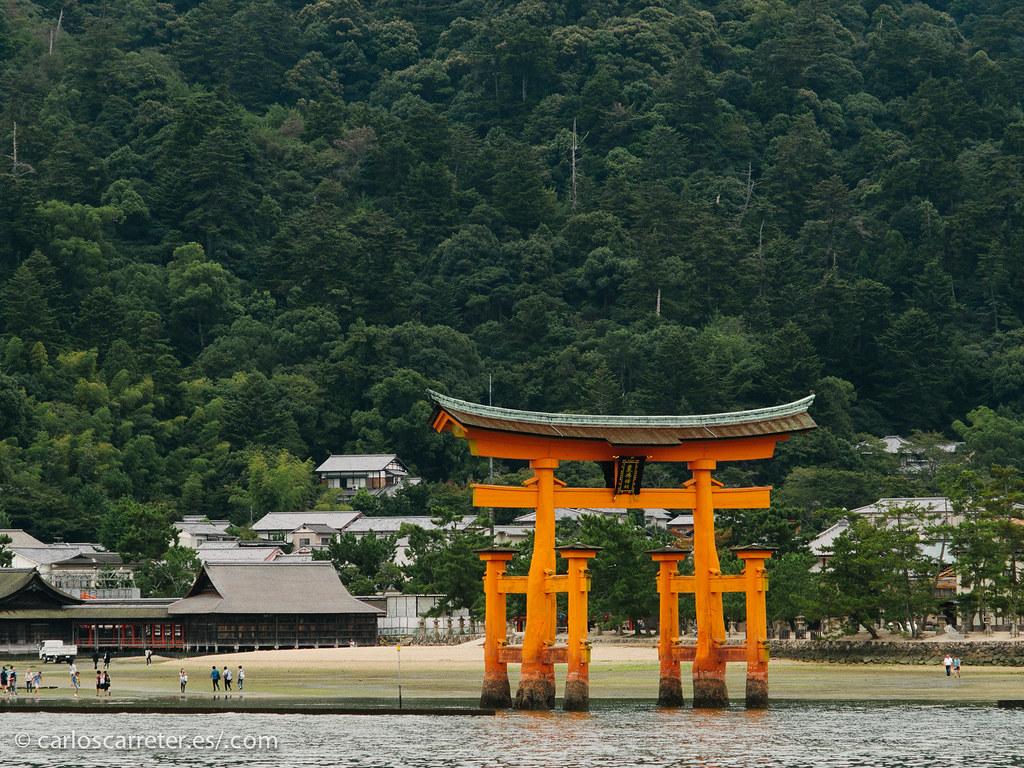 La gran Torii de Itsukushima - Miyajima