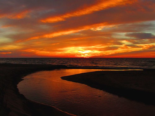 sunset reflection nature water landscape colorful michigan lakemichigan sizer