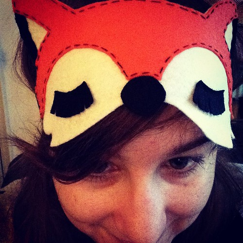 Fox eyemask from lucky dip club