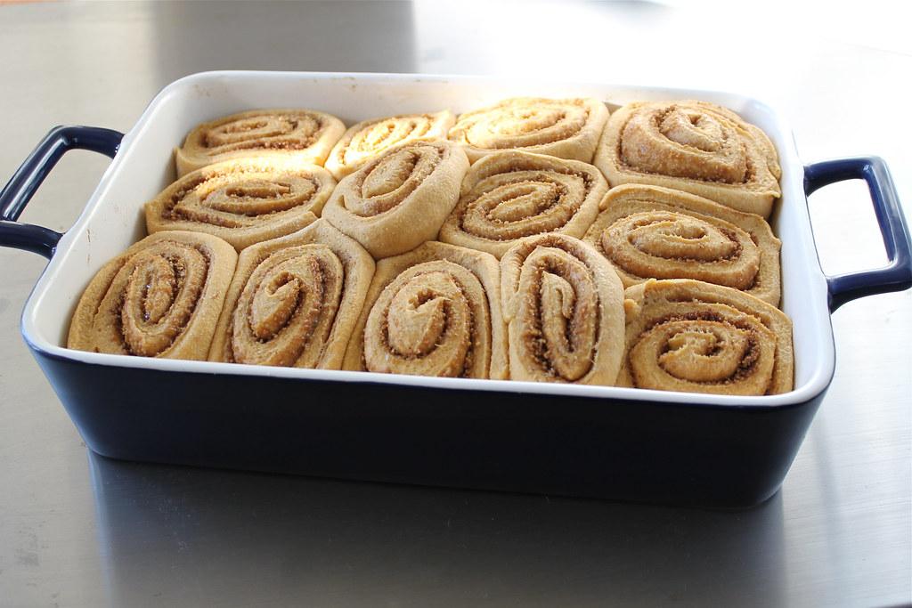 risen but unbaked pumpkin cinnamon rolls | http://www.katesshortandsweets.com