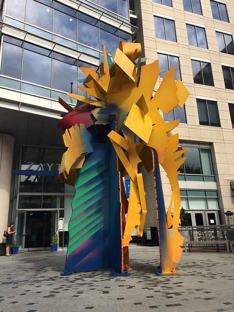 Modern sculpture, G St & 9th St