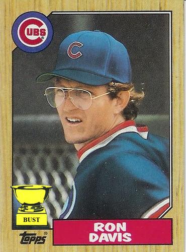Baseball Card Bust Ron Davis 1987 Topps