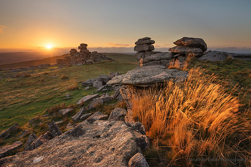 The last light at Great Staple Tor