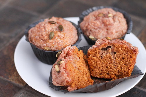 Pumpkin Espresso Cream Cheese Muffins
