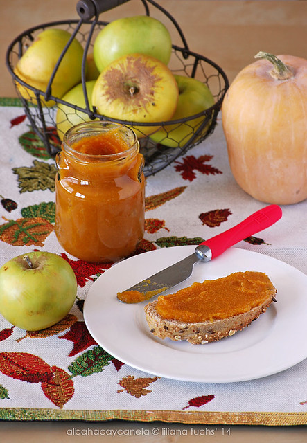 Compota de calabaza y manzana