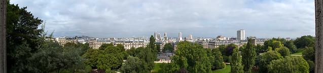 Panorama du Nord de Paris depuis l'Ile du Belvédère du Parc des Buttes Chaumont