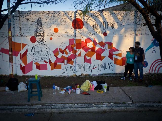 Mural junto a Vanesa Lupi en Reparte Buenos AIres 2014