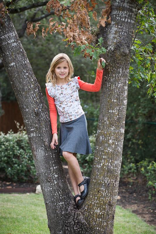 magnolia skirt/hemlock top