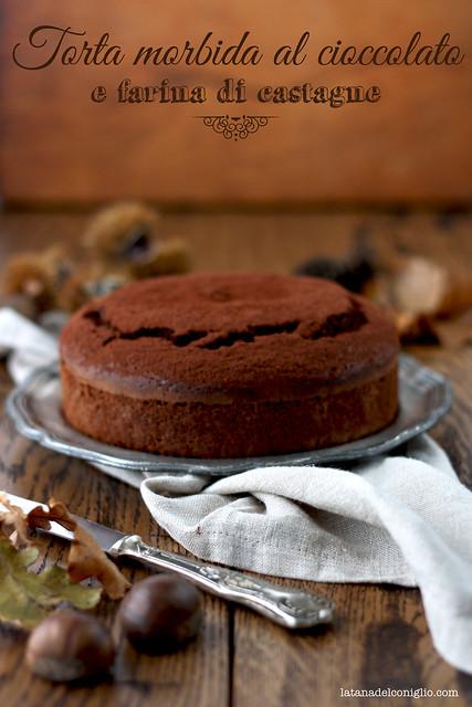 Torta morbida al cioccolato e farina di castagne4