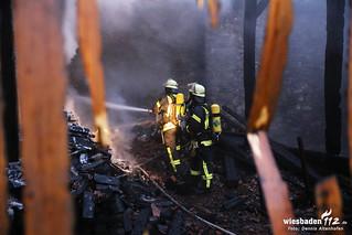 Scheunenbrand Kloster Klarenthal 14.10.14