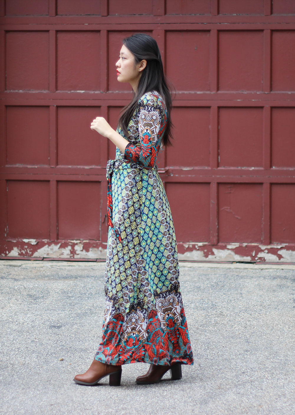 Dailylook colorful print maxi dress