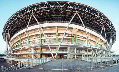 autumn panorama building fall architecture sunrise nikon stadium sigma gym