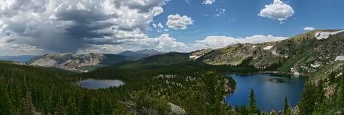 panorama lake weather colorado pano monarch waterdoglakes upperwaterdoglake lowerwaterdoglake gettinghigh2014