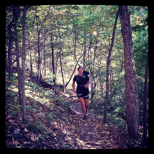 Running the Lost Valley Trail. #trailrunning #FIGARtraining #skippo30ktraining #castlewoodARtraining #multitasking