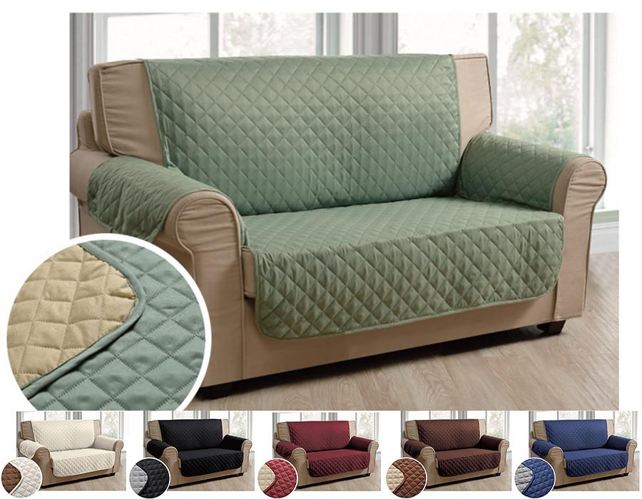 Luxury Microfiber Pet Dog Reversable LoveseatSmall Sofa Protector