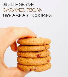 Caramel Pecan Protein Breakfast Cookies