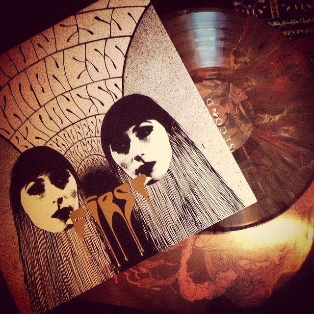 Baroness First and Second on brown marble vinyl #baroness #vinyl #record #johndyerbaizley