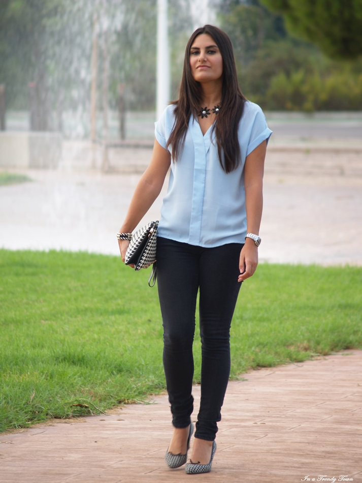 OUTFIT BABY BLUE + PATA DE GALLO