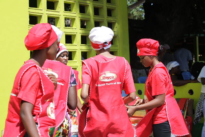 2014 Miss Malaika Delegates show off their culinary skills during Cooking Task