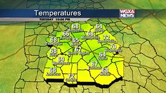 Here\'s the 10 p.m. temperature update for central Georgia.