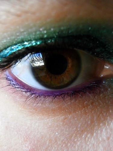 iris macro reflection eye makeup
