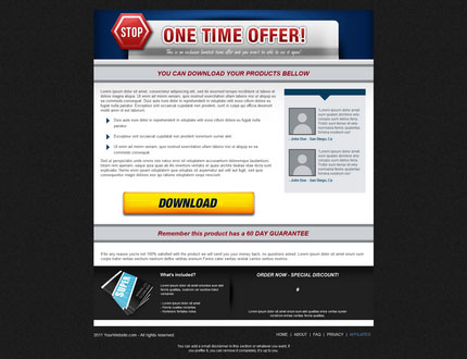 One Time Offer (OTO) Template 1