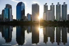 Reflection of Bangkok