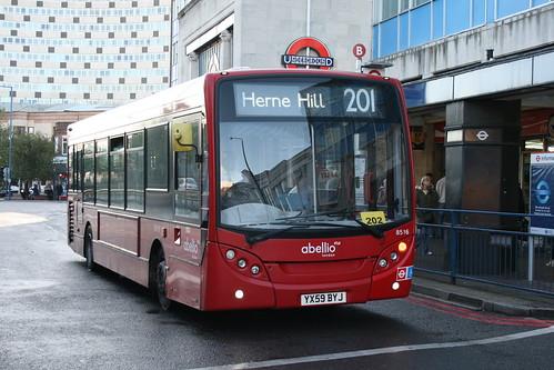 Abellio London 8516 on Route 201, Morden Station