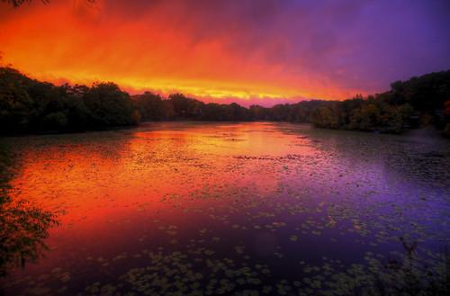 sunset lake 3 fall nature wet water rain minnesota canon landscape mark iii wing 5d mn hdr minnetonka photomatix bracketed