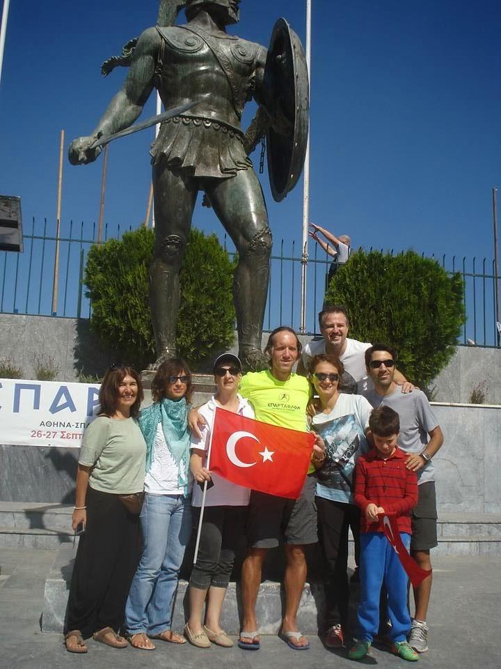 Spartathlon Team Turkey. Suna - Alessia - Maria (race volunteer) - Aykut - Selen - Budak - Cenk - Aytug