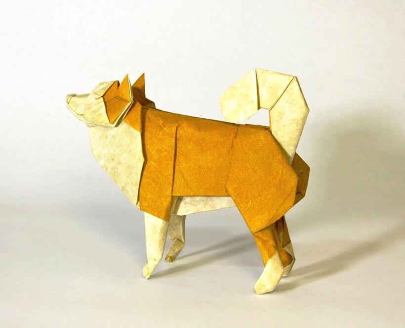 Blue Origami Paper