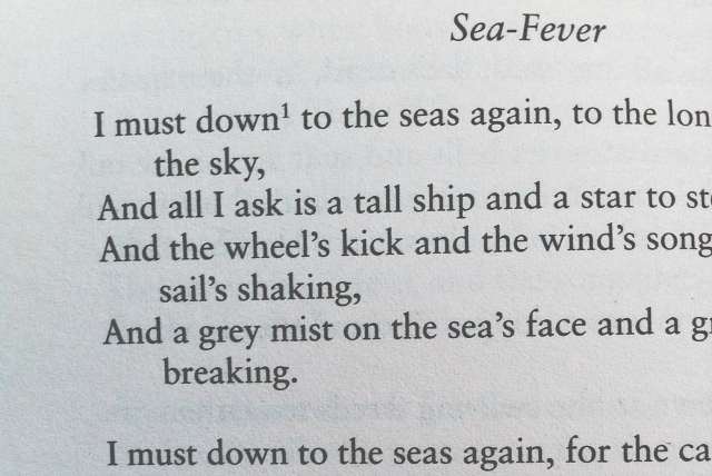 sea fever john masefield poetry vivatramp book blogger lifestyle blog uk