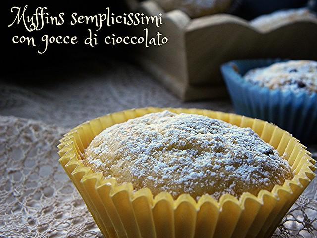 muffins semplicissimi, con gocce di cioccolato