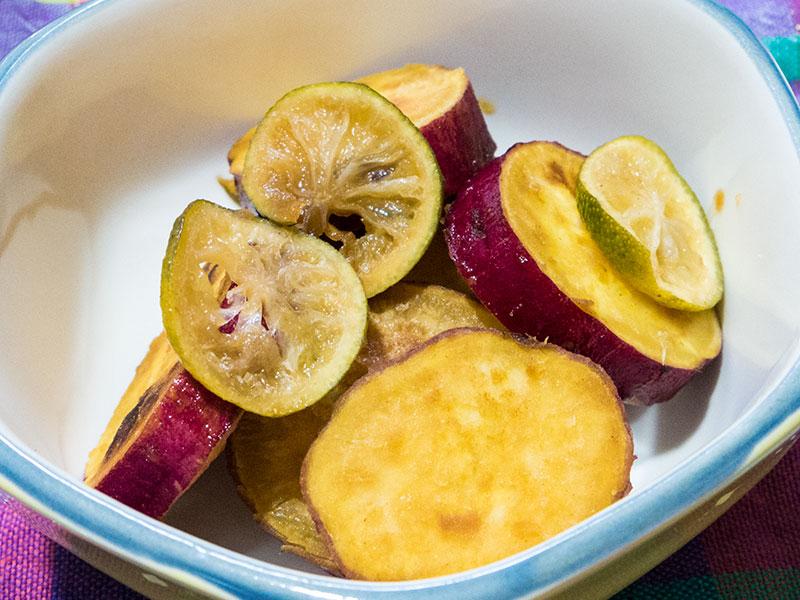 サツマイモのスダチ煮
