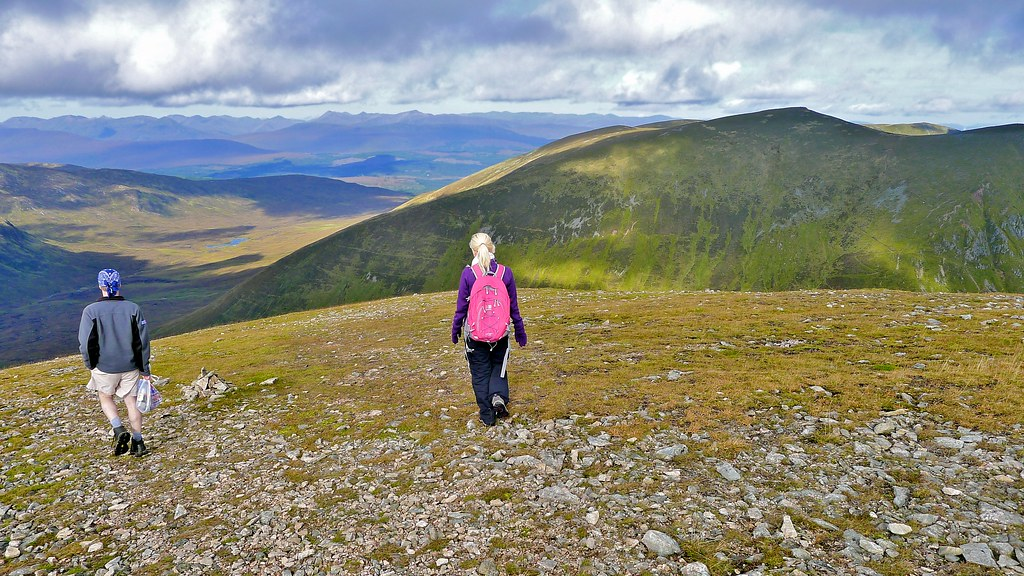 Descent from Meall na Teanga