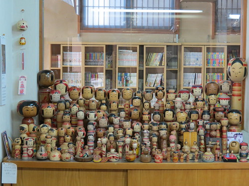 Kokeshi collection at the Taishokan, Naruko Onsen