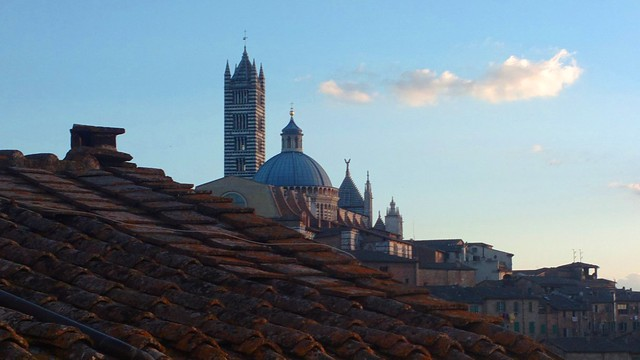 Sunset view on Siena Cathedral