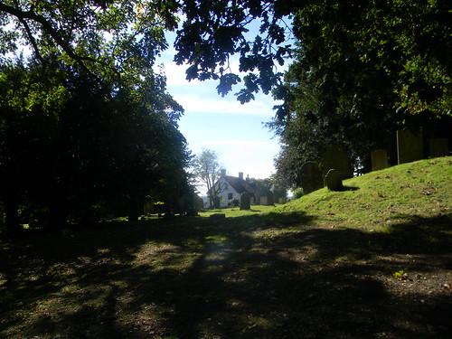 Approaching Burwash churchyard