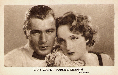 Marlene Dietrich and Gary Cooper in Morocco