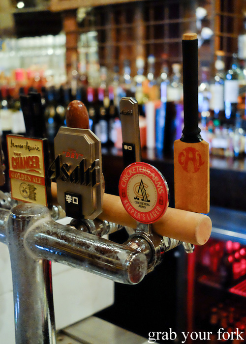 Cricketers Arms beer on tap at Fall from Grace bar, Melbourne