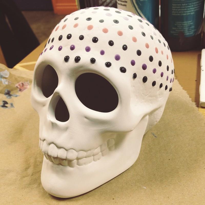 Dottery skull