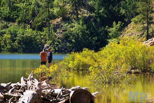 camping lake fishing campfire chevelon