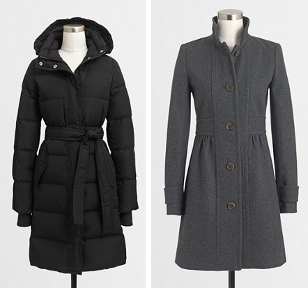 jcrew factory coats