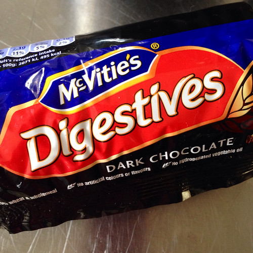 McVities. Chocolate digestives. Biscuits. Food.